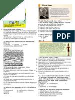 Eem Menezes Pimentel - Prova 2 Ano Bim 1 - Inglês