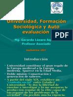 Universidad y Formacion Sociologica