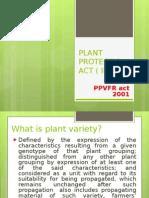 Plant Varieties in IPR