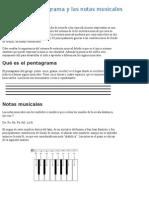 El Pentagrama y Las Notas Musicales