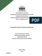 Relatório 05 - Propriedades Gerais de Proteínas e Aminoácidos