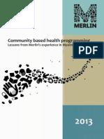 Merlin Community Based Health Programming