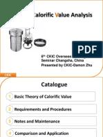 Studies of Calorific Value Analysis