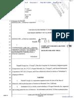 Google Inc. v. Compression Labs Inc et al - Document No. 1