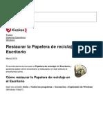 Restaurar La Papelera de Reciclaje en El Escritorio 10349 Nkpb59