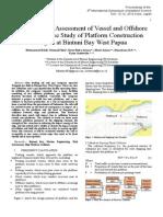 Risk Assessment of Ship Platform Colission