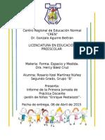 Informe de la Primera Jornada de Práctica Educativa