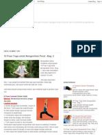 10 Pose Yoga Untuk Mengecilkan Perut - Bag 2