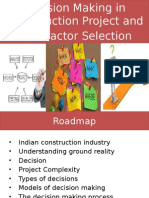 Decision in Project and Contractor Selection