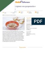 GZRic Ravioli Integrali Ripieni Di Gorgonzola e Dadolata Di Pere