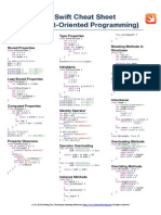 Swift Cheat Sheet - Object Oriented Programming - A4