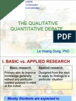 MA TESOL Research Methods W3 Qualitative Quantitative Debate