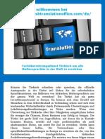 Fachübersetzungsdienst Türkisch