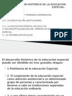 Evolución Histórica de La Educación Especial