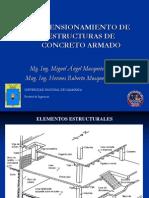 Predimensionamiento de Estructuras de Concreto Armado