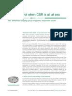 Emerald - Csr at Sea