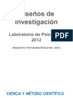 2b Clase 2012 - Diseños de Investigación