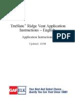 TruSlate Ridge Vent Application 20179