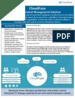 CloudFuze DataSheet