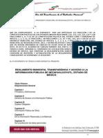 Reglamento Municipal Transparencia y Acceso a La Informacion Publica de Nezahualcoyotl_08!11!2012