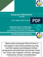 Komputasi Teknik Kimia Genap 2014-2015