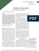 A New Treatment Modality in Heart Failure