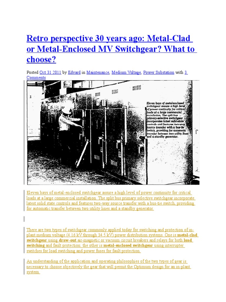 Metal Clad Vs Enclosure Fuse Electrical Relay 2 Way Generator Switch