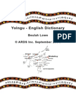 B. lowe Yolngu Dictionary