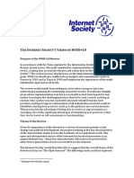 The Internet Society's contribution to UNESCO's Consultation on the WSIS+10 Review