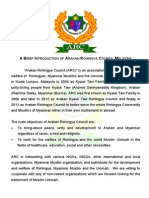 A Brief Introduction of Arakan Rohingya Council Malaysia
