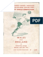 England versus Wales Central park Denbigh