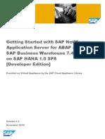 Getting Started Guide ABAP 74 SP8 HANA SP8 DevEdition