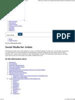 Arts Law _ Information Sheet _ Social Media for Artists