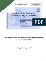 Ponencia Distribuccion de Consumos Domesticos Segun Caudales