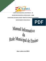 Manual de Orientações Da Rede Municipal