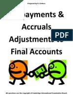 Igcse Accounting Prepayments Accruals