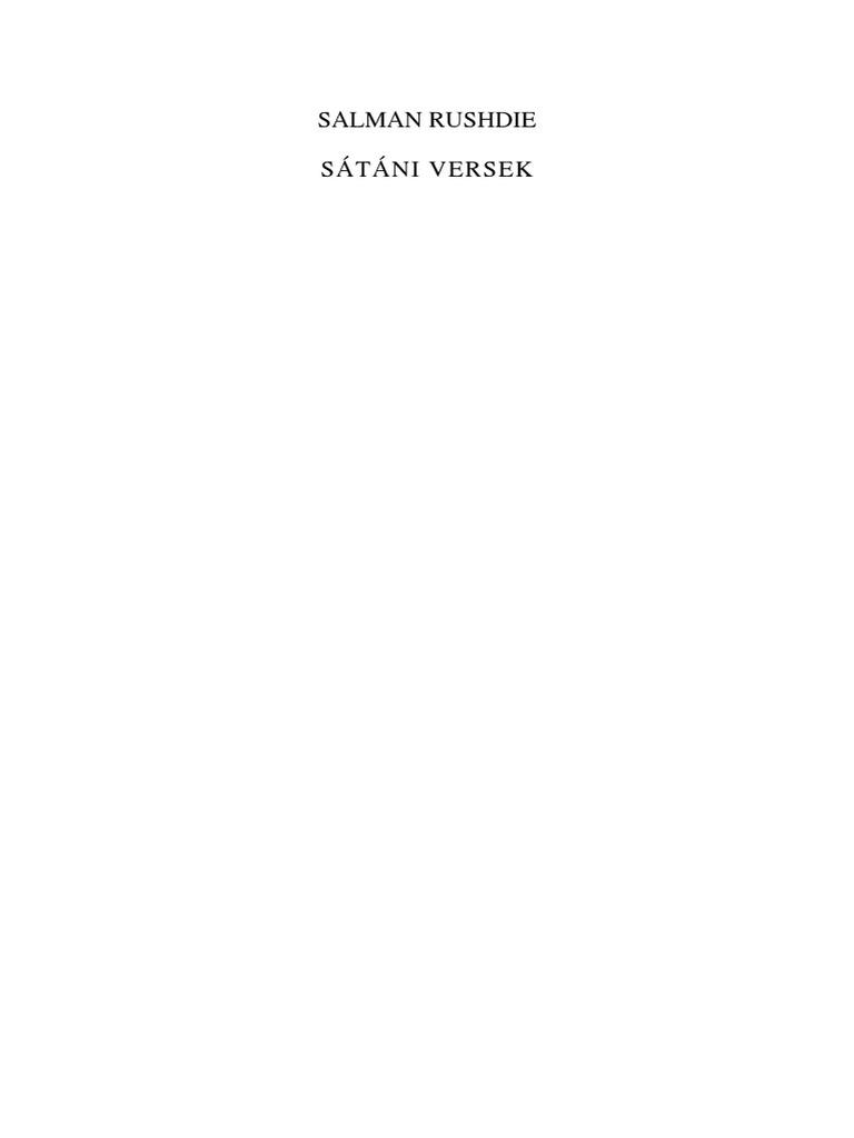 Salman Rushdie - Sátáni Versek e9ed48f9f9