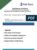 Career Planning - Industrial View (Noon, Rolls Royce, 2011)
