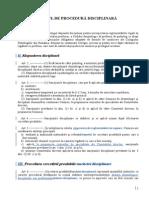Codul de Procedura Disciplinara DEONTOLOGIE