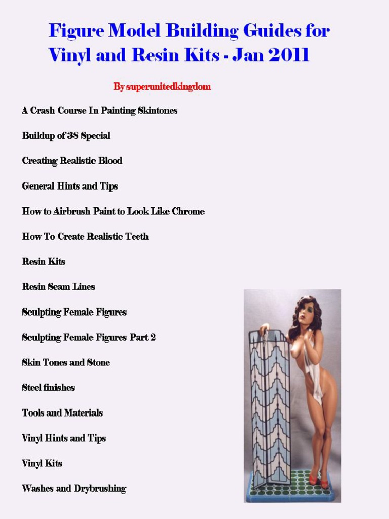 Figure Model Building Guides for Vinyl and Resin Kits, V2 Apr 2014