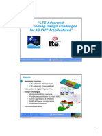 LTE-AdvancedOvercoming Design Challenges for 4G PHY Architectures""