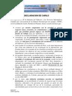 CESSI Declaracion de Carilo 2007