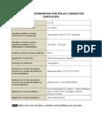 PCC Information Form
