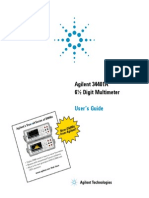 user manual of Angilent 34401A
