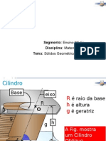 Geometria Espacial - Cilindro Aula 1