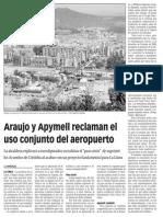 159407 La Verdad CG- Araujo y Apymell Reclaman El Uso Conjunto Del Aeropuerto p. 2