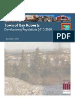 Bay Roberts Development Regulations 2010-2020