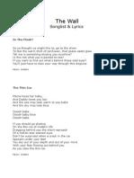 The Wall - Alle lyrics