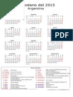 Calendario de Argentina Del 2015
