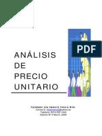 Curso Analisis de Precio Unitario
